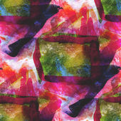 Abstract green, red seamless wallpaper watercolor art hand paint — Stock Photo