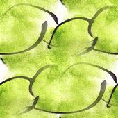 Art avant-garde hand paint green background seamless wallpaper w — Stock Photo