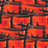 Artwork artist palette picture orange, blue frame graphic seamle — Stock Photo