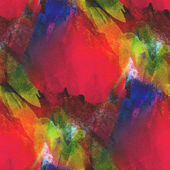 Background seamless watercolor texture red, yellow, green abstra — Stock Photo