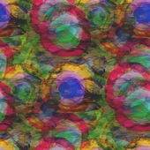 Background green blue red circle ornament watercolor art seamles — Stockfoto
