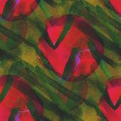 Background green orange ornament watercolor art seamless texture — Stock Photo