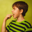 Постер, плакат: Kid boy teenager baby poisoning vomiting belching anorexia fing