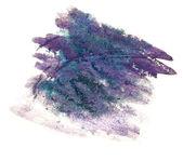 Splash purple, green paint blot watercolour color water ink isol — Stock Photo