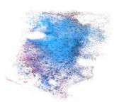 Abstract drawing purple, blue stroke ink watercolor brush water — Photo