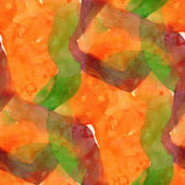 Pattern design green, orange seamless watercolor texture backgro — Stock Photo