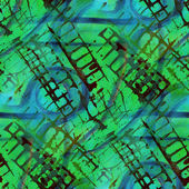 Pattern design seamless green, blue watercolor texture backgroun — Photo