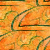 Modèle conception sans couture orange vert texture aquarelle backgro — Photo