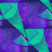 Pattern design seamless watercolor texture background green, pur — Stock Photo