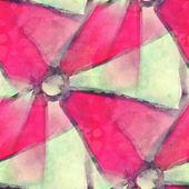 Pattern design seamless watercolor texture pink, green backgroun — Stock Photo