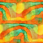 Pattern orange, green design seamless watercolor texture backgro — Stock Photo