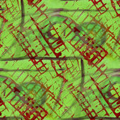 Pattern red, green design seamless watercolor texture background — Photo
