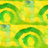 Yellow, green pattern design seamless watercolor texture backgro — Stock Photo