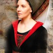 Medieval times lady — Stock Photo