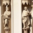 The figures of saints on the Catholic cathedral — Stock Photo