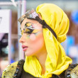 Creative makeup show at the festival of beauty — Stok fotoğraf