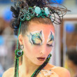 Creative makeup show at the festival of beauty - Stock Photo