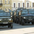 Russian army vehicle before the parade for Victory Day — Stock Photo