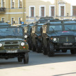 Russiarmy vehicle before parade for Victory Day — Stock Photo #14780197
