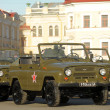Russiarmy vehicle before parade for Victory Day — Stock Photo #14780255