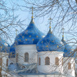 Cathedral at St`George monastery, Novgorod the Great, Russia - Stock Photo