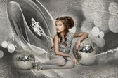 Silver girl — Stock Photo