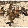 Reconstruction of the Second World War — Stock Photo
