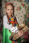 Girl in national russian costume. — Stock Photo
