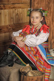 Polish girl in national costume Krakow — Stock Photo