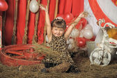 Girl in circus — Stock fotografie