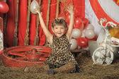Girl in circus — Stockfoto
