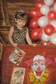 Girl in circus — Stock Photo