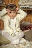 Girl next to the wardrobe — Stock Photo