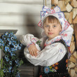 Polish girl in costume — Stock Photo