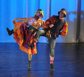 Folk dance show — Stock Photo