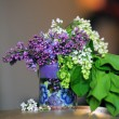 Lilac in a cup — Stock Photo