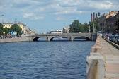Landscape of fontanka river, petersburg — Stock Photo