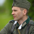 Man re-enactor of hostilities of World War II — Stock Photo