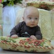 Stock Photo: Baby on pillow
