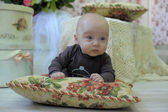 Baby on a pillow — Stock Photo