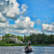 Venetian gondola in Tsarskoye Selo, Russia — Stock Photo
