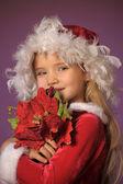 Christmas portrait of a girl — Stock Photo