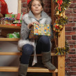 Christmas portrait of a girl — Stock Photo