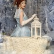 Portrait of a woman in the role of the Snow Queen — Stock Photo
