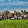 "Participants during historical festival ""Old Ladoga"" — Stock Photo"
