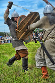 """Participants during historical festival """"Old Ladoga"""" — Stock Photo"""