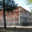 Stock Photo: House under constrution in forest