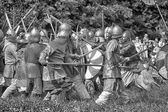 The battle with spears — Stock Photo