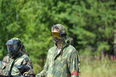Paintball players — Stock Photo