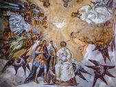 Frescoes in the monastery — Stock Photo